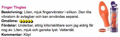 Finger Tingles Recension Aftonbladet