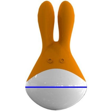 Klitorisvibrator i silikon - orange