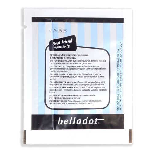 Belladot glidmedel pocket 3ml baksida